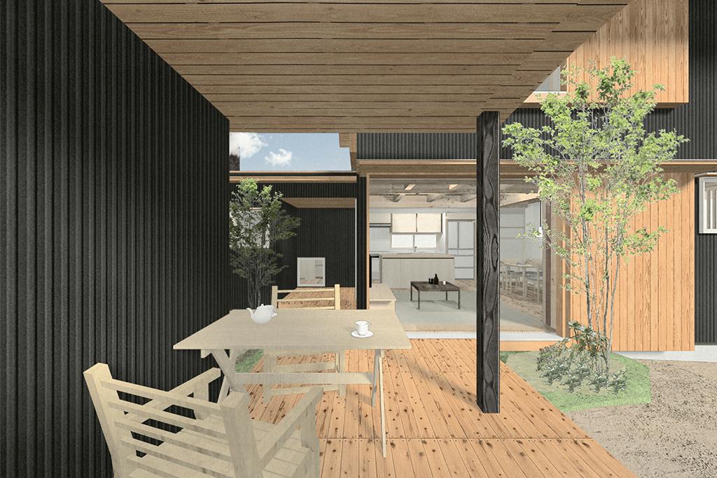 姫路市の木の家 メインパース