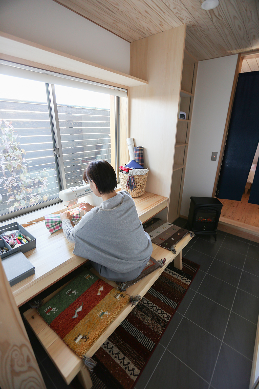 加古川市の木の家 奥さまの趣味室