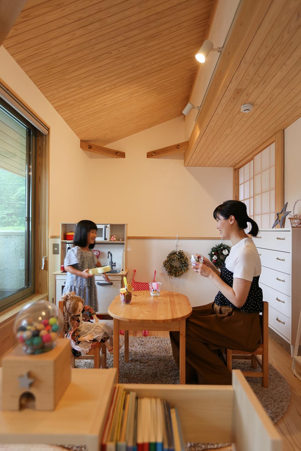 宍粟市の木の家 2階フリールーム