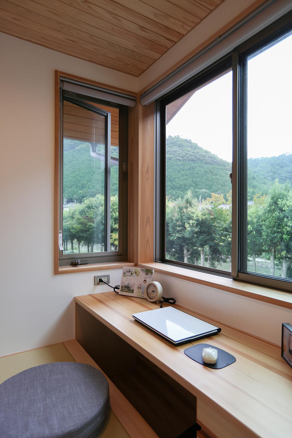 宍粟市の木の家 書斎