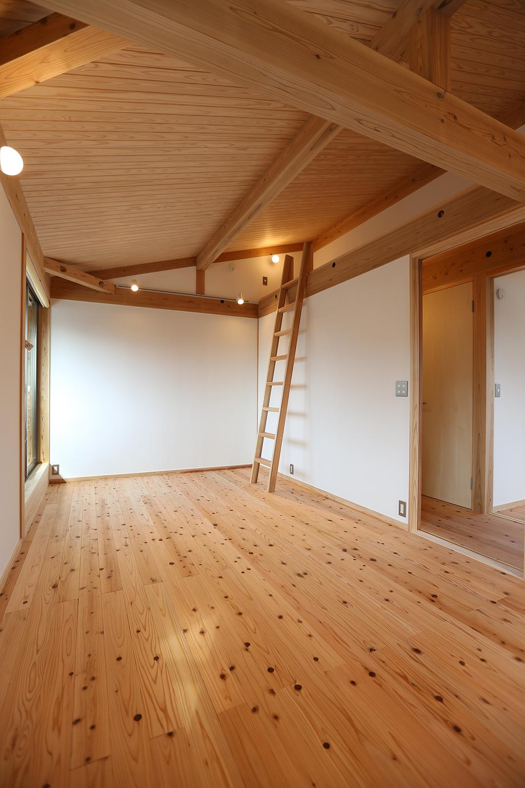 加古川市の木の家 2階フリールーム