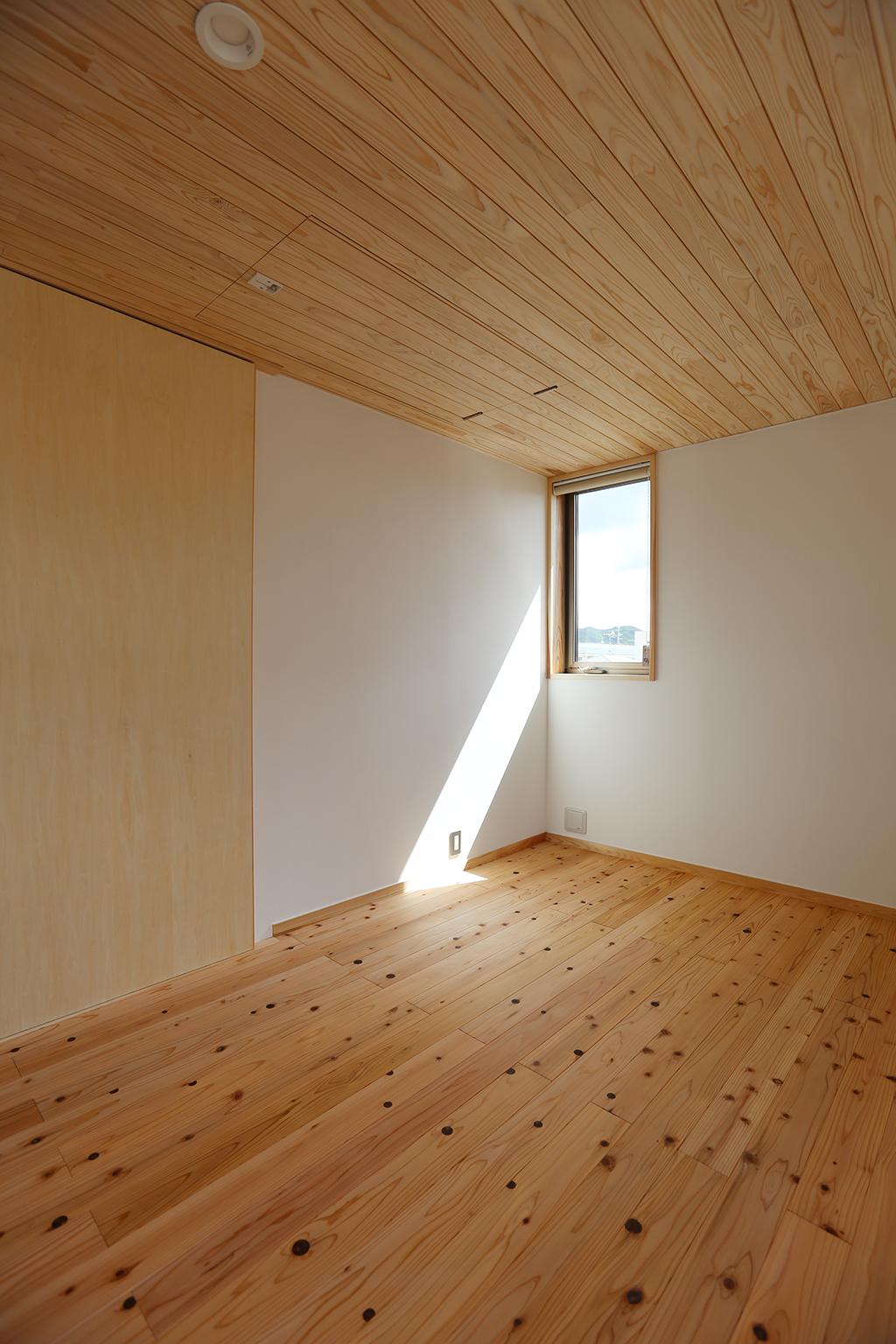 たつの市の木の家 寝室