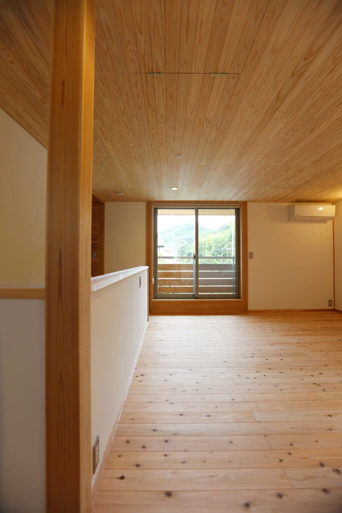 高砂市の木の家 2階フリールーム