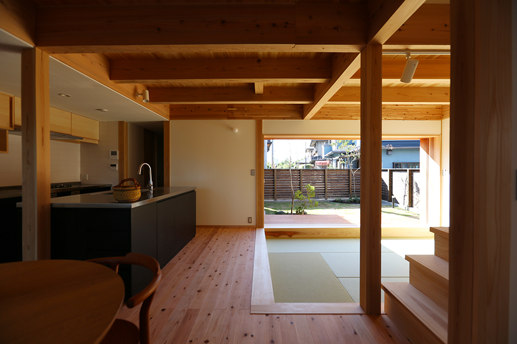 高砂市の木の家 リビングダイニングキッチン