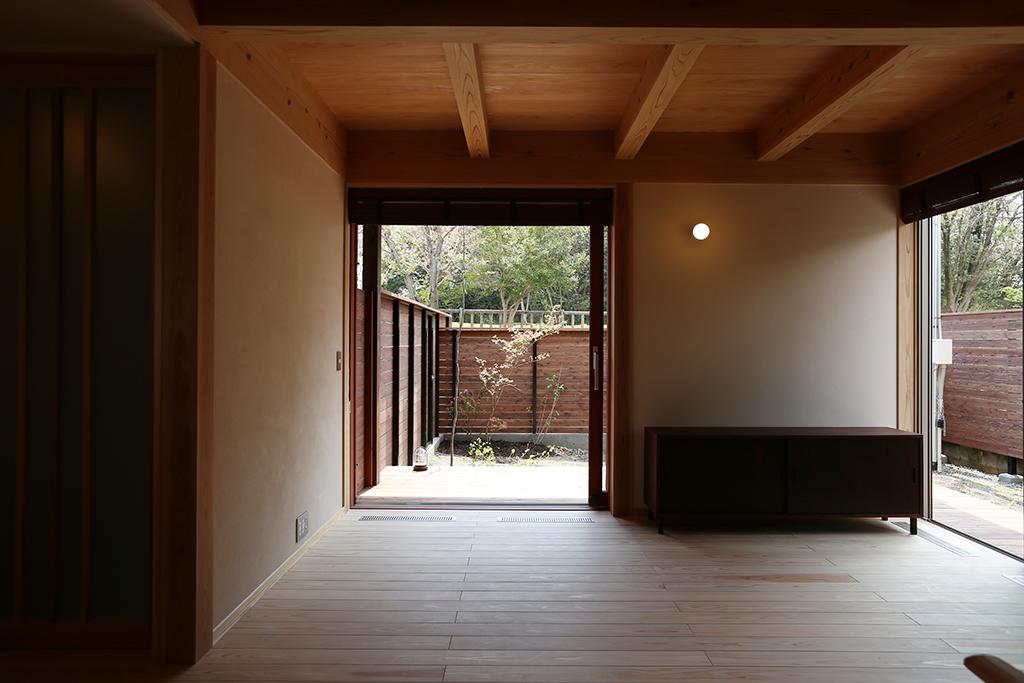 加古川市の木の家 リビングからの眺め