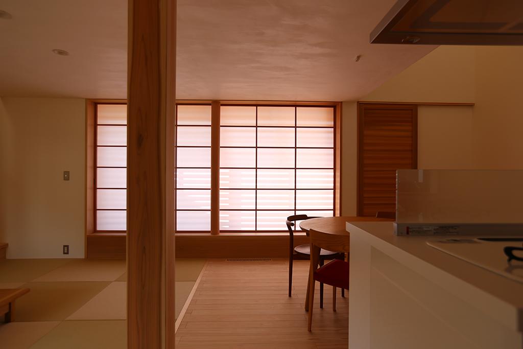 宍粟市の木の家 リビングダイニングキッチン