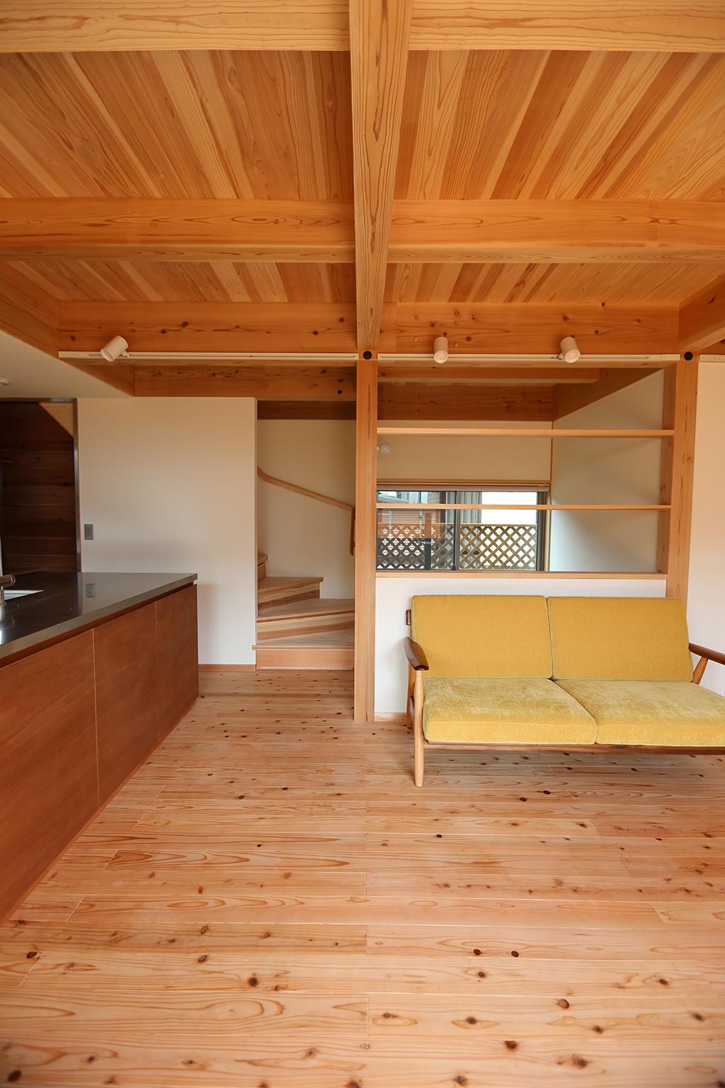 明石市の木の家 リビング