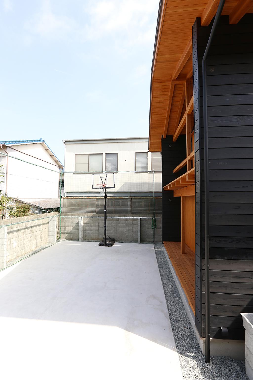 姫路市の木の家 バスケットコート