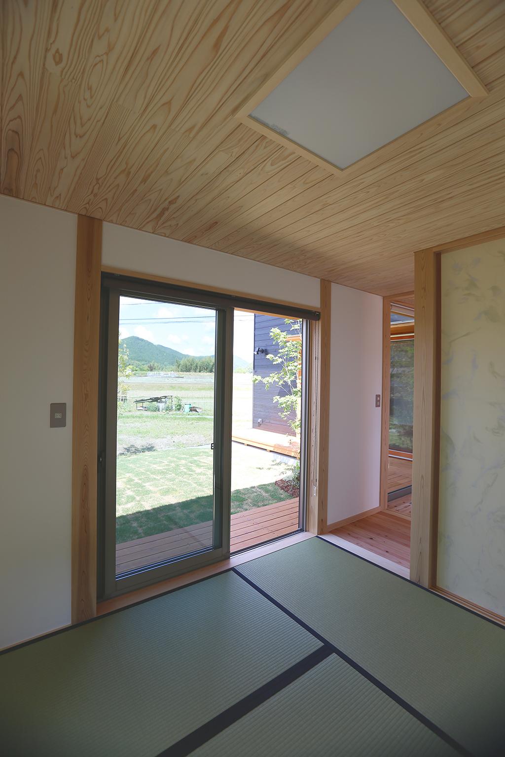 姫路市の木の家 適度な距離感を保った和室