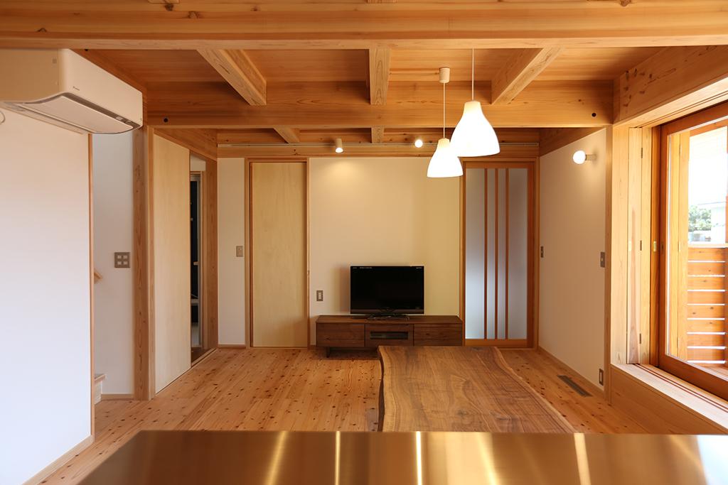 加古川市の木の家 キッチンからの眺め