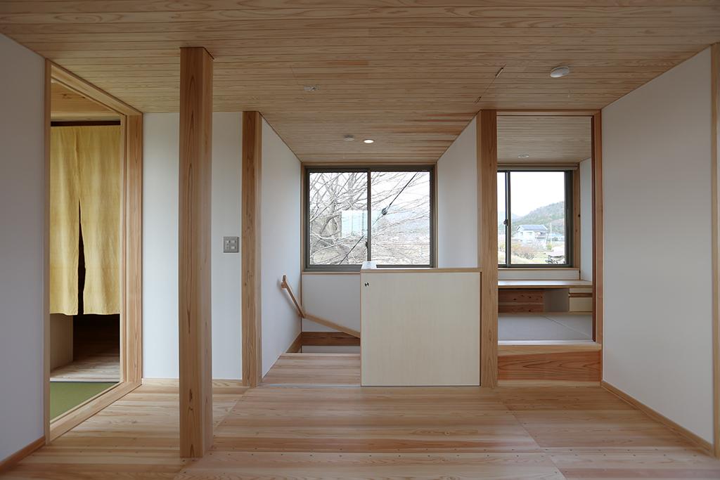 神崎郡の木の家 2階のフリールーム