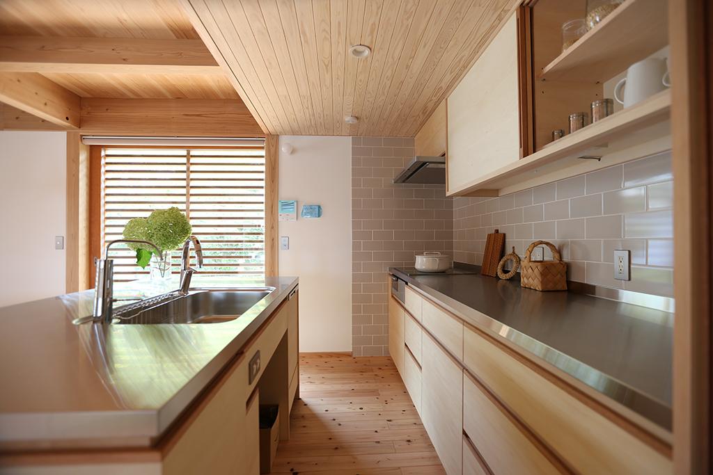 高砂市の木の家 オリジナルキッチン