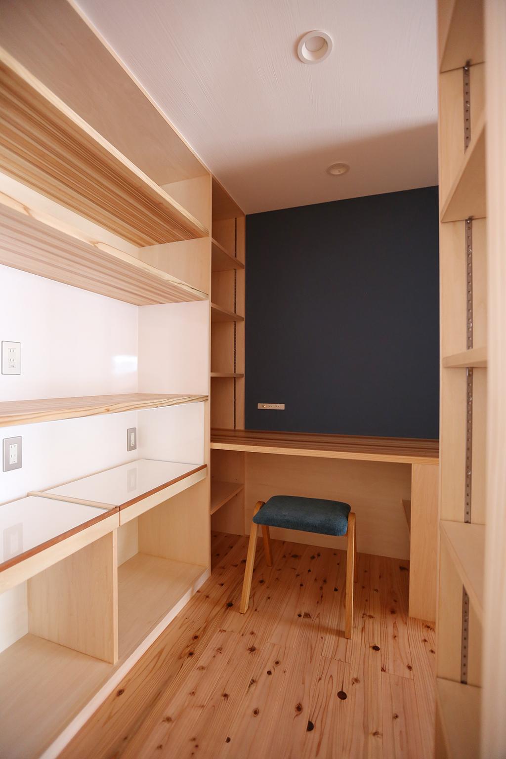姫路市の木の家 家電収納のある家事スペース