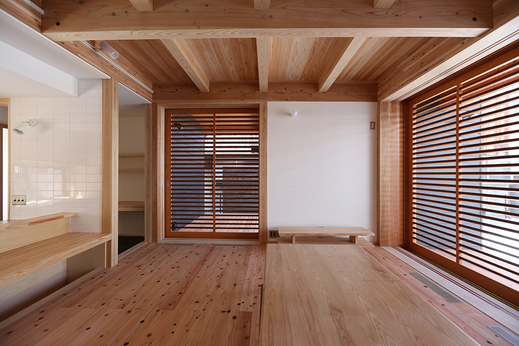 姫路市の木の家 リビング