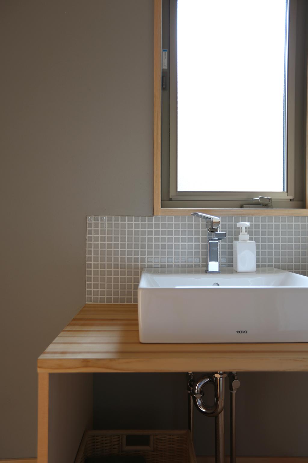 加古川市の木の家 造作洗面台