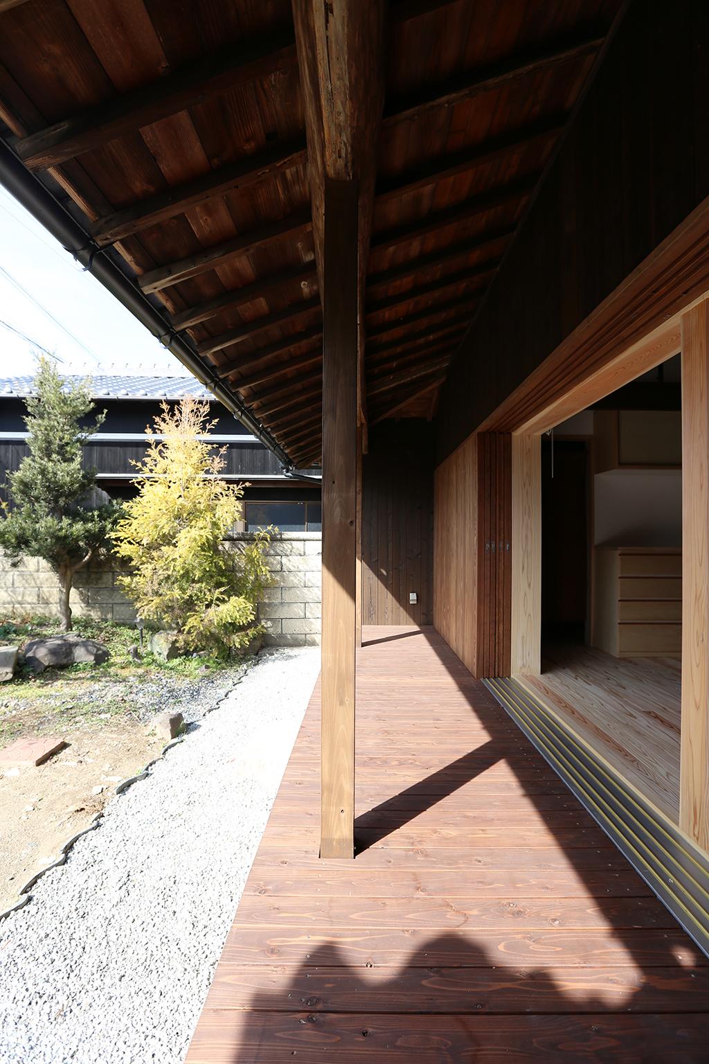 加古川市の木の家 濡れ縁