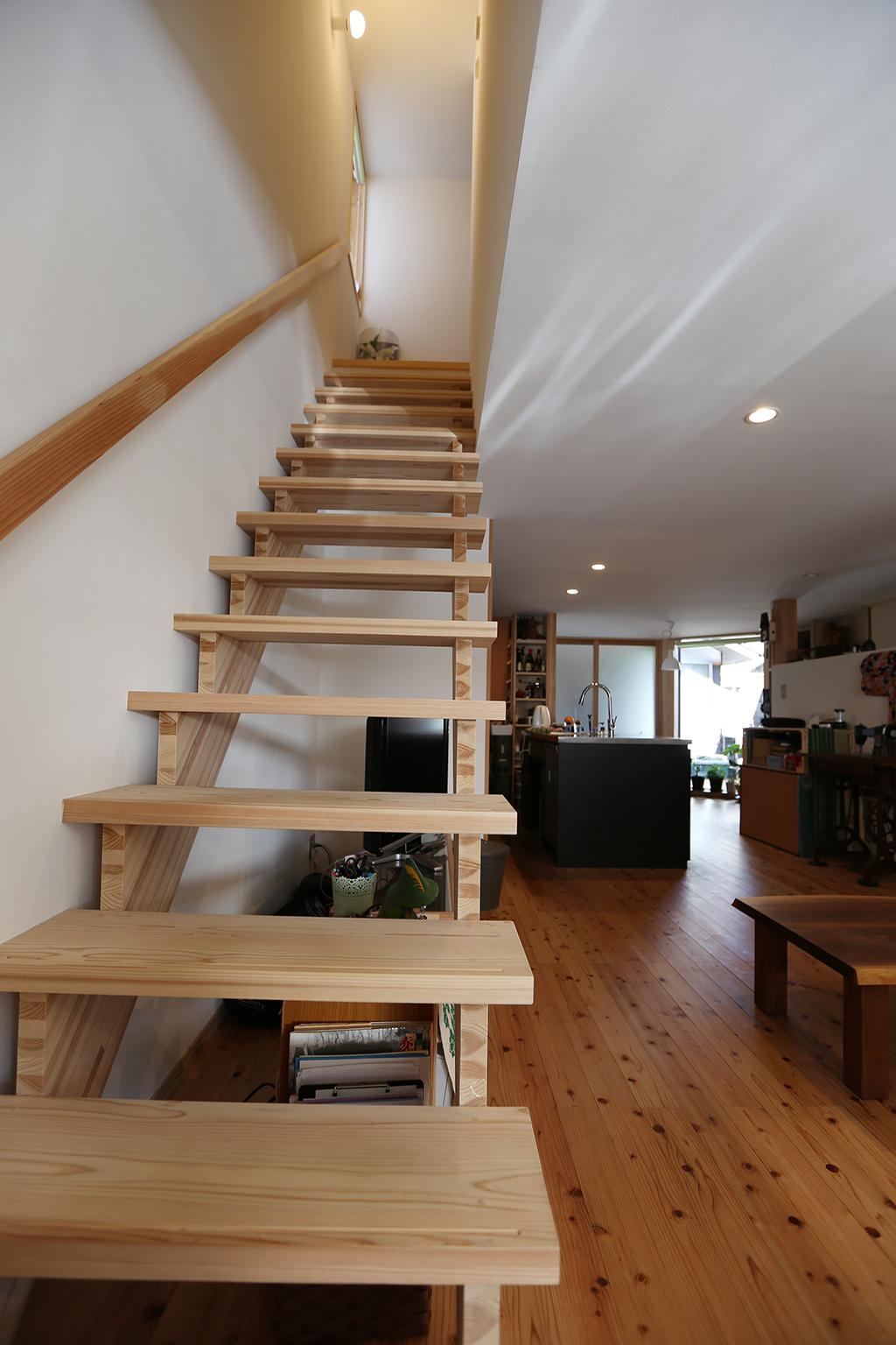赤穂市の家 リノベーション工事後の階段
