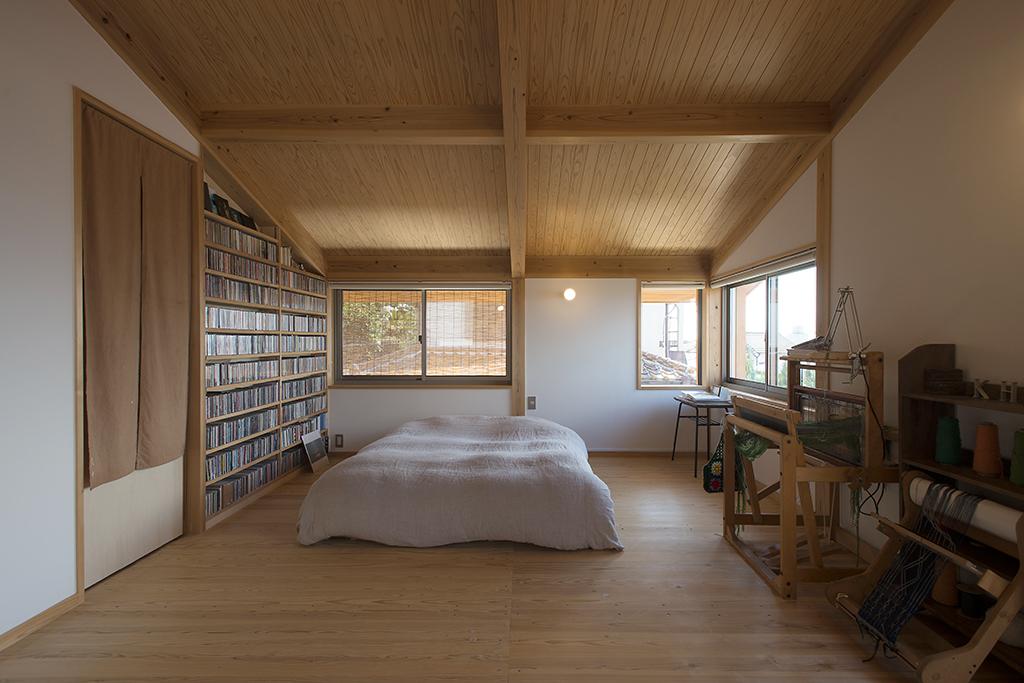 明石市の木の家 寝室