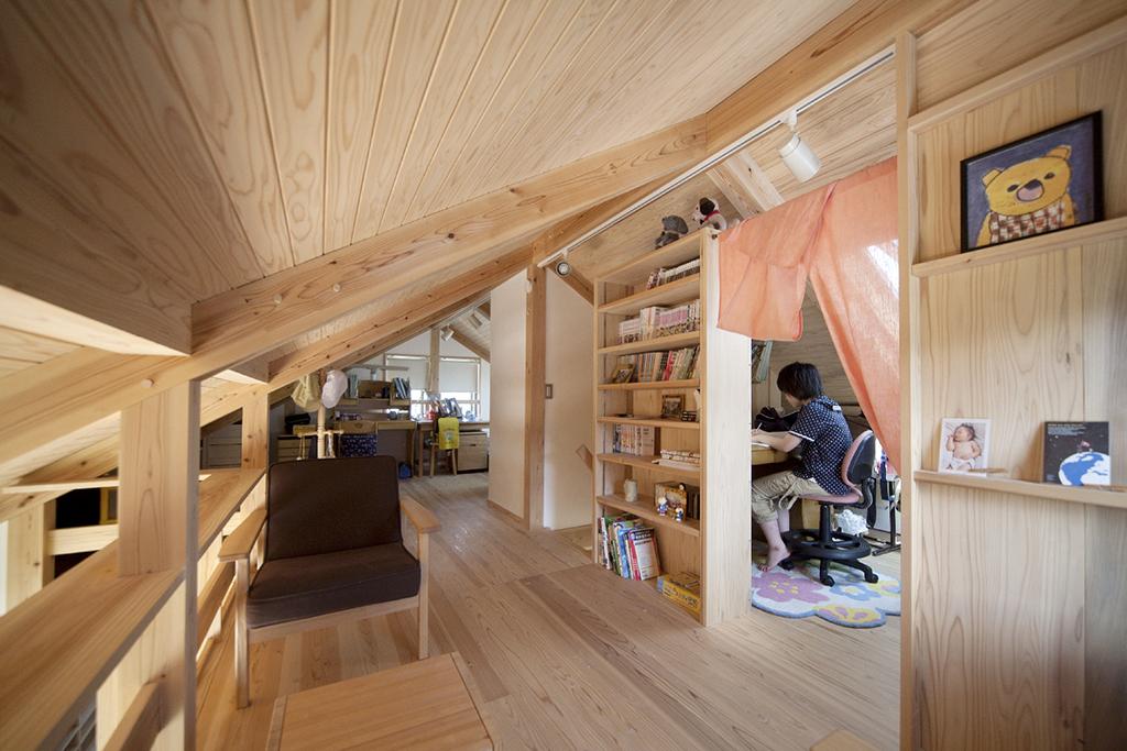 宍粟市の木の家 子ども部屋