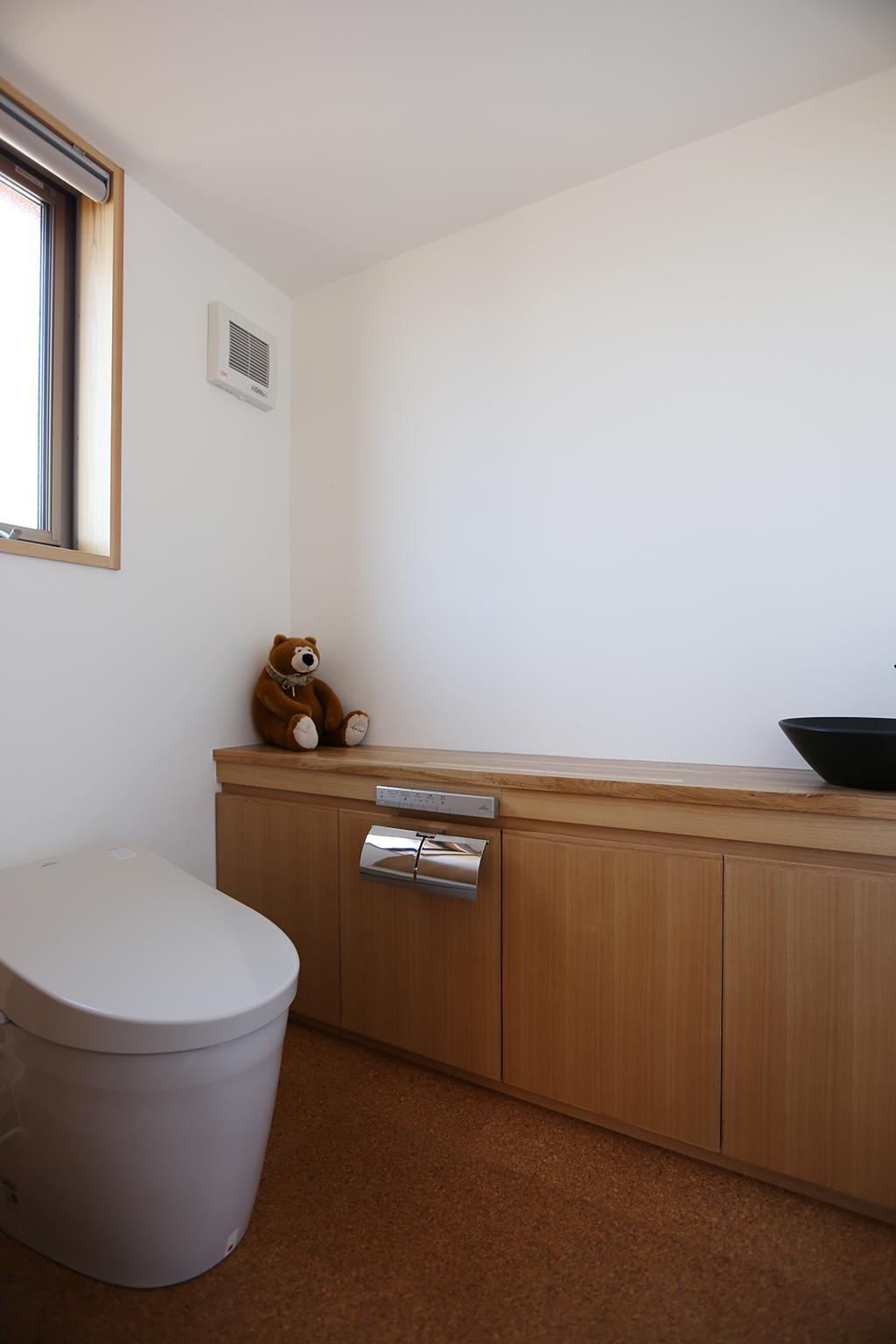姫路市の木の家 トイレ