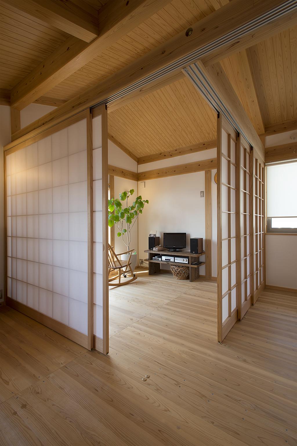 明石市の木の家 客間としても使える趣味室