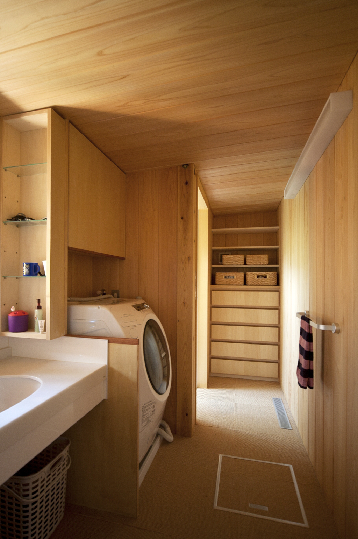 宍粟市の木の家 洗面脱衣室