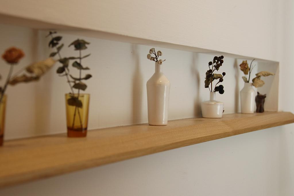 姫路市の木の家 ニッチを彩る植物たち