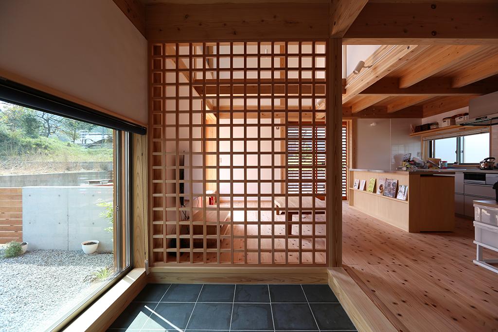 姫路市の木の家 玄関土間