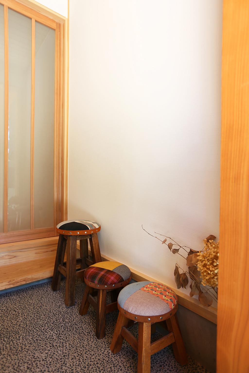姫路市の木の家 思い出が迎える玄関