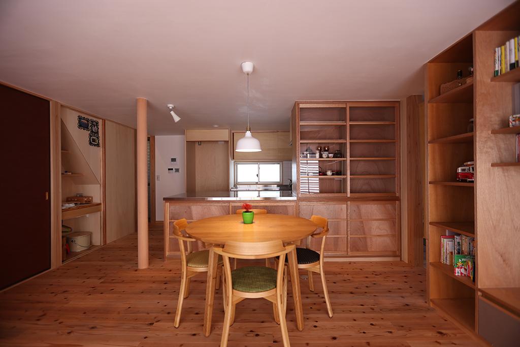 姫路市の木の家 ダイニングキッチン