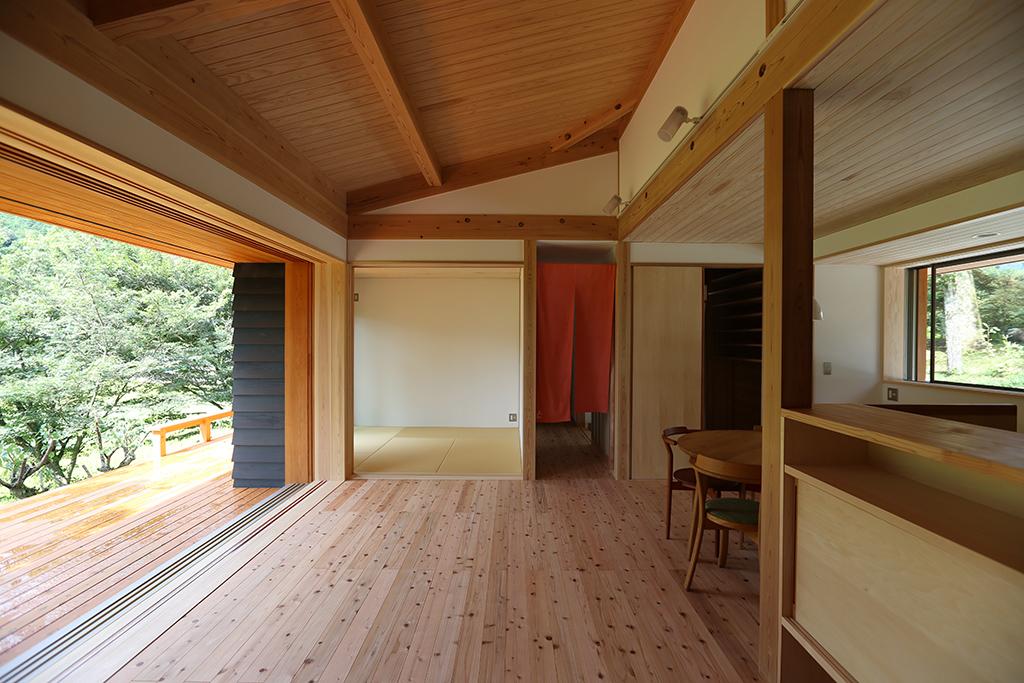 姫路市の木の家 開放的なLDK