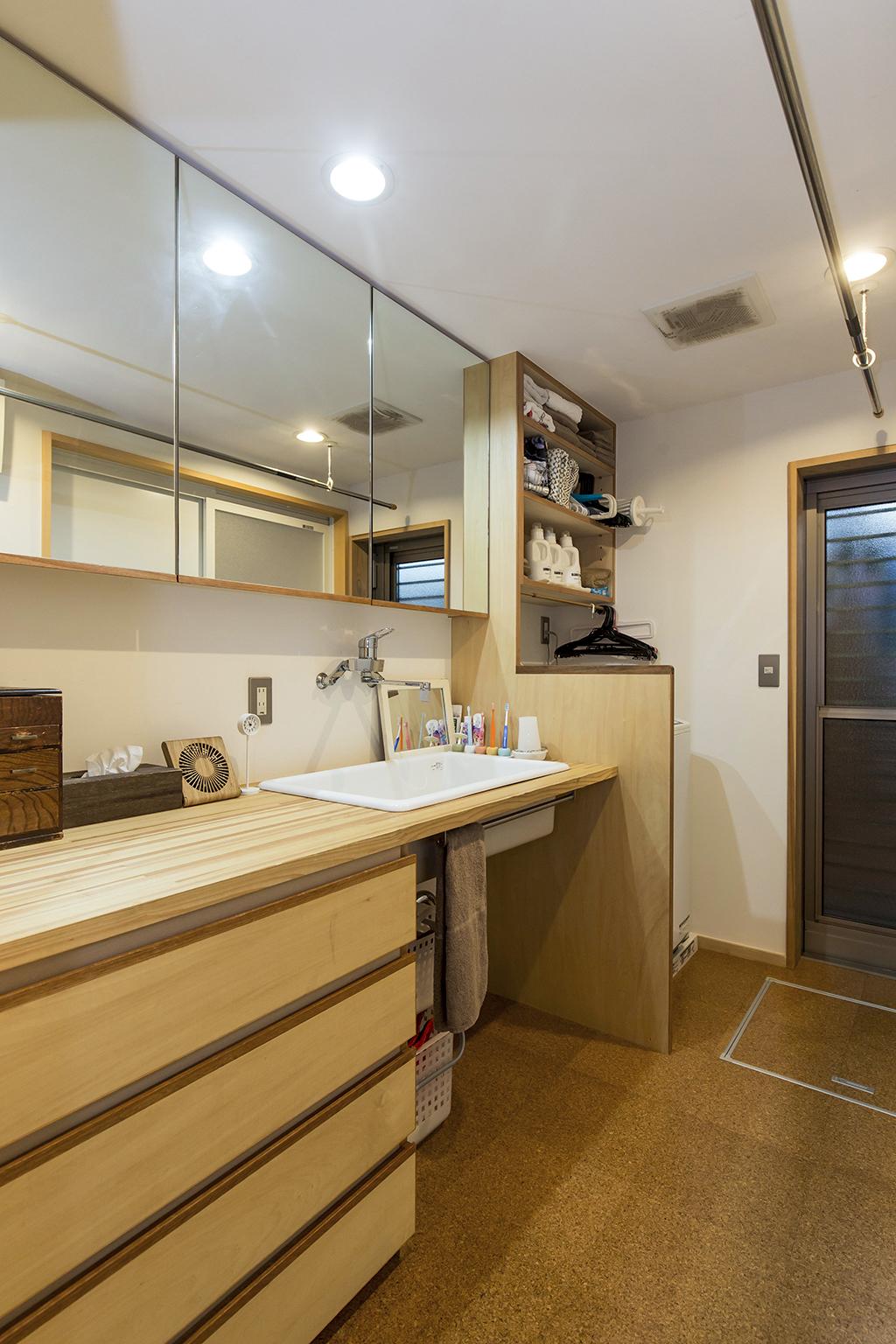 加古川市の木の家 オリジナル洗面化粧台