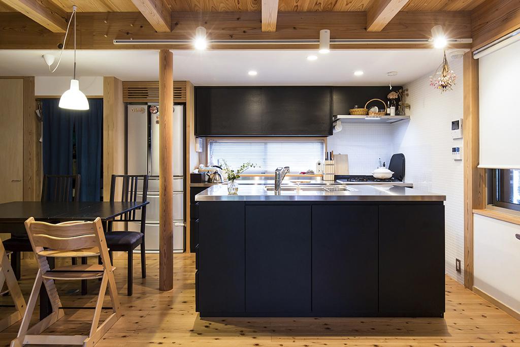加古川市の木の家 オリジナルキッチン