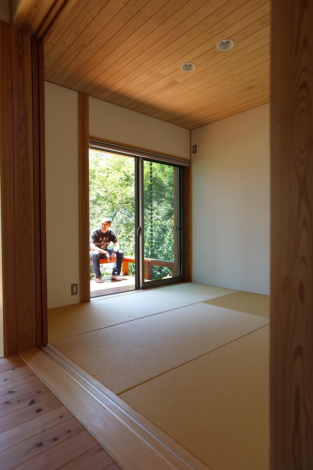 姫路市の木の家 予備室として設計したリビング脇の和室