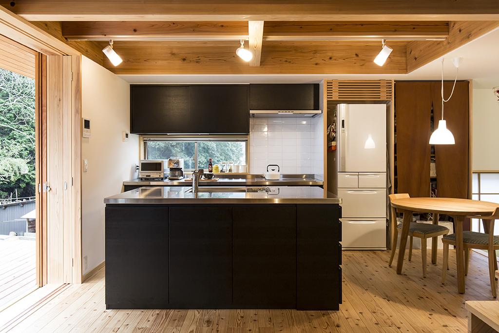宍粟市の木の家 オリジナルキッチン