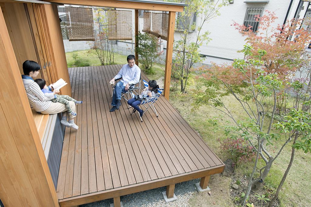 姫路市の木の家 ウッドデッキは第二のリビング
