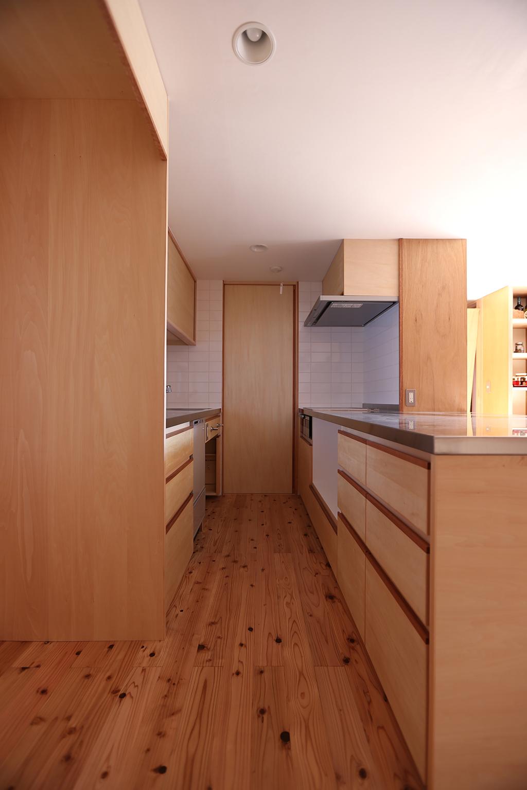 姫路市の木の家 オリジナルの造作キッチン