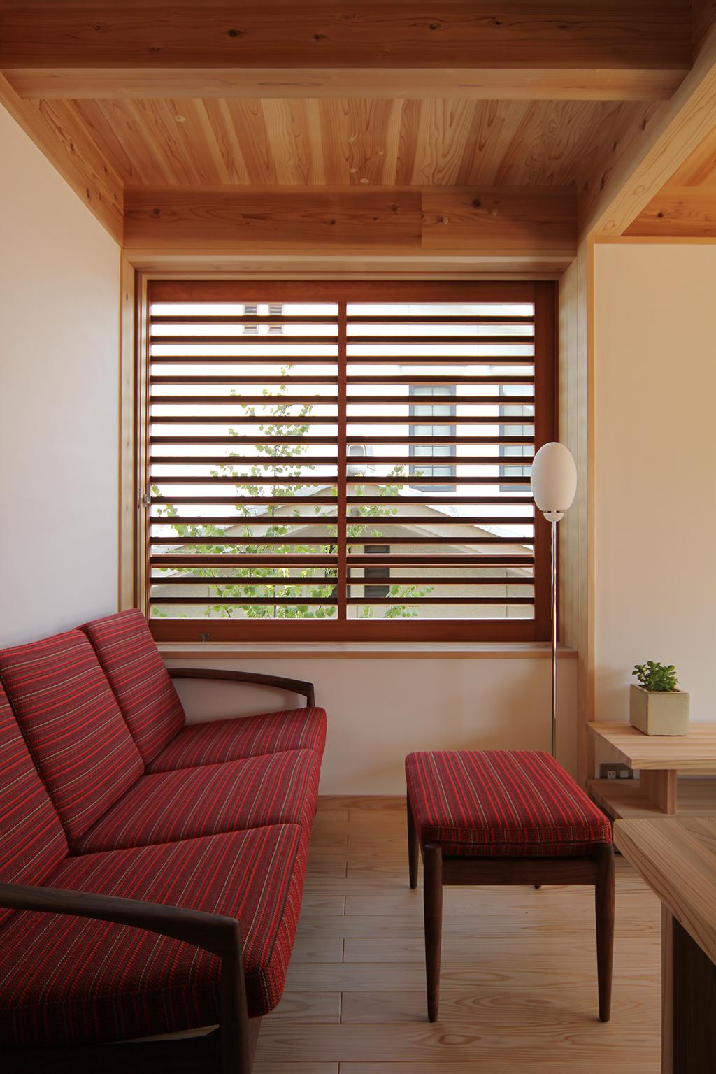 宍粟市の木の家 ソファスペース