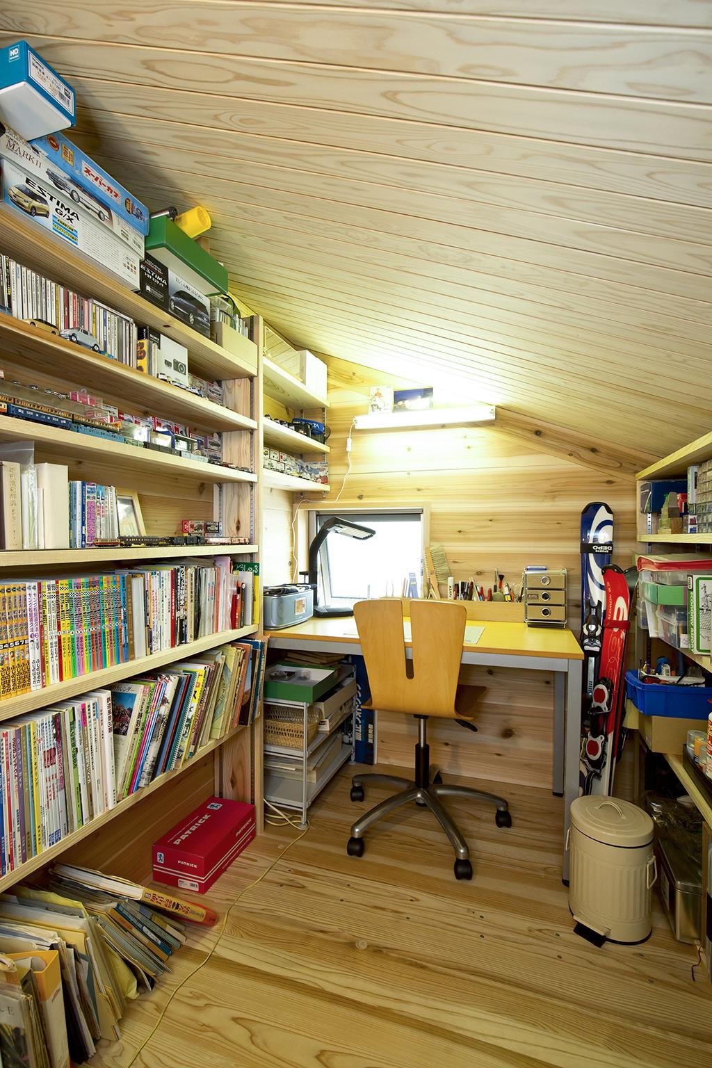 加古川市の木の家 ご主人の趣味の工房