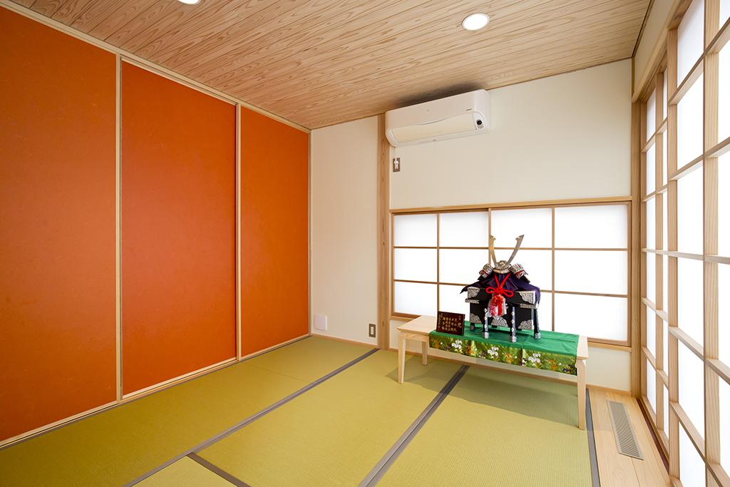 加古川市の木の家 リビング脇の和室