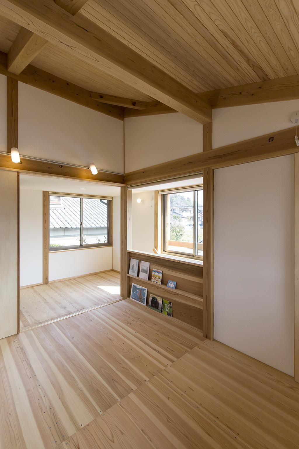 姫路市の木の家 2階フリースペース