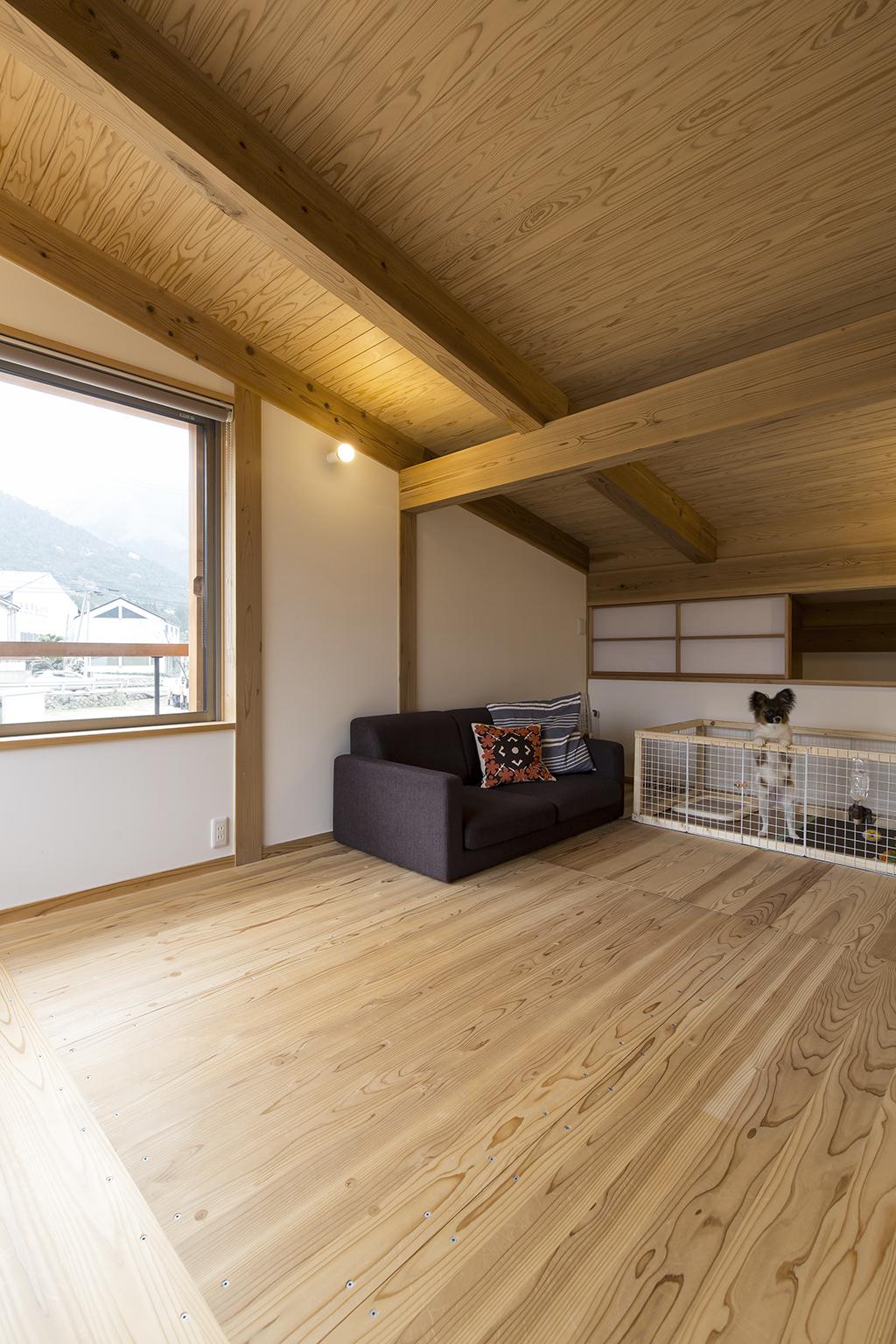宍粟市の木の家 2階フリースペース