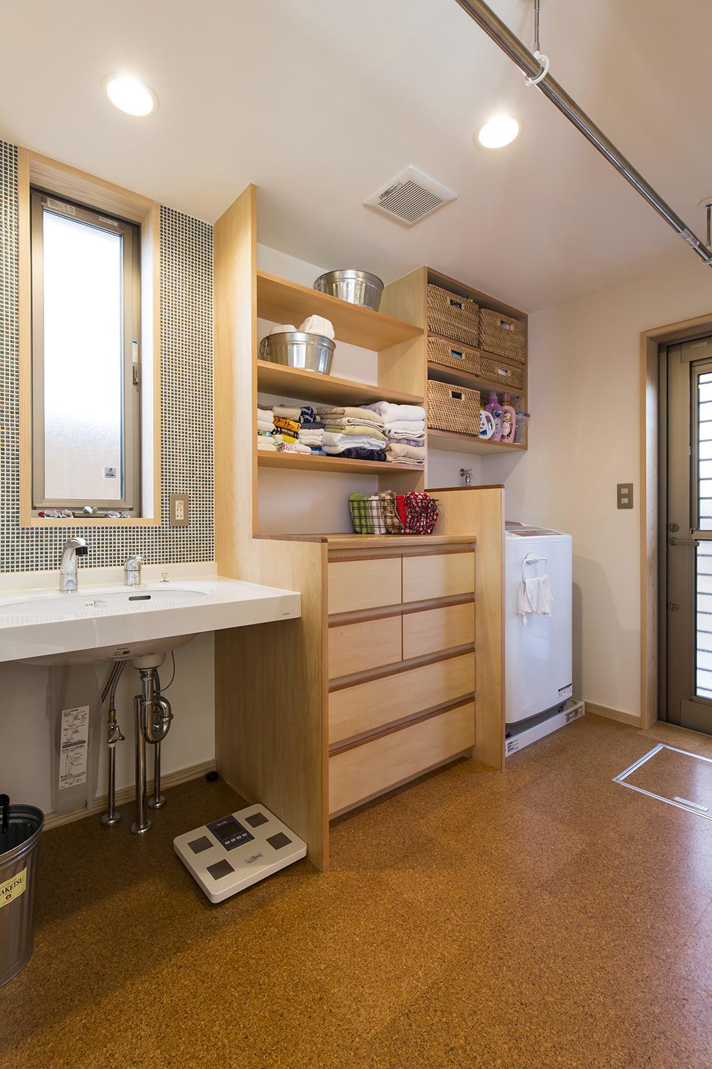 高砂市の木の家 洗面洗濯脱衣室