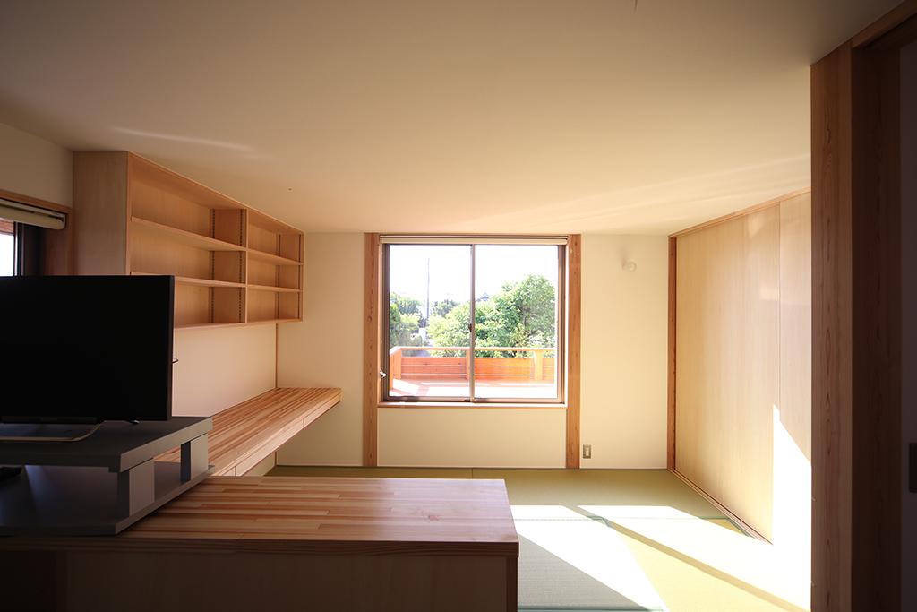 加古川市の木の家 ご夫婦の寝室
