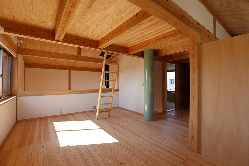 姫路市の木の家 子ども部屋