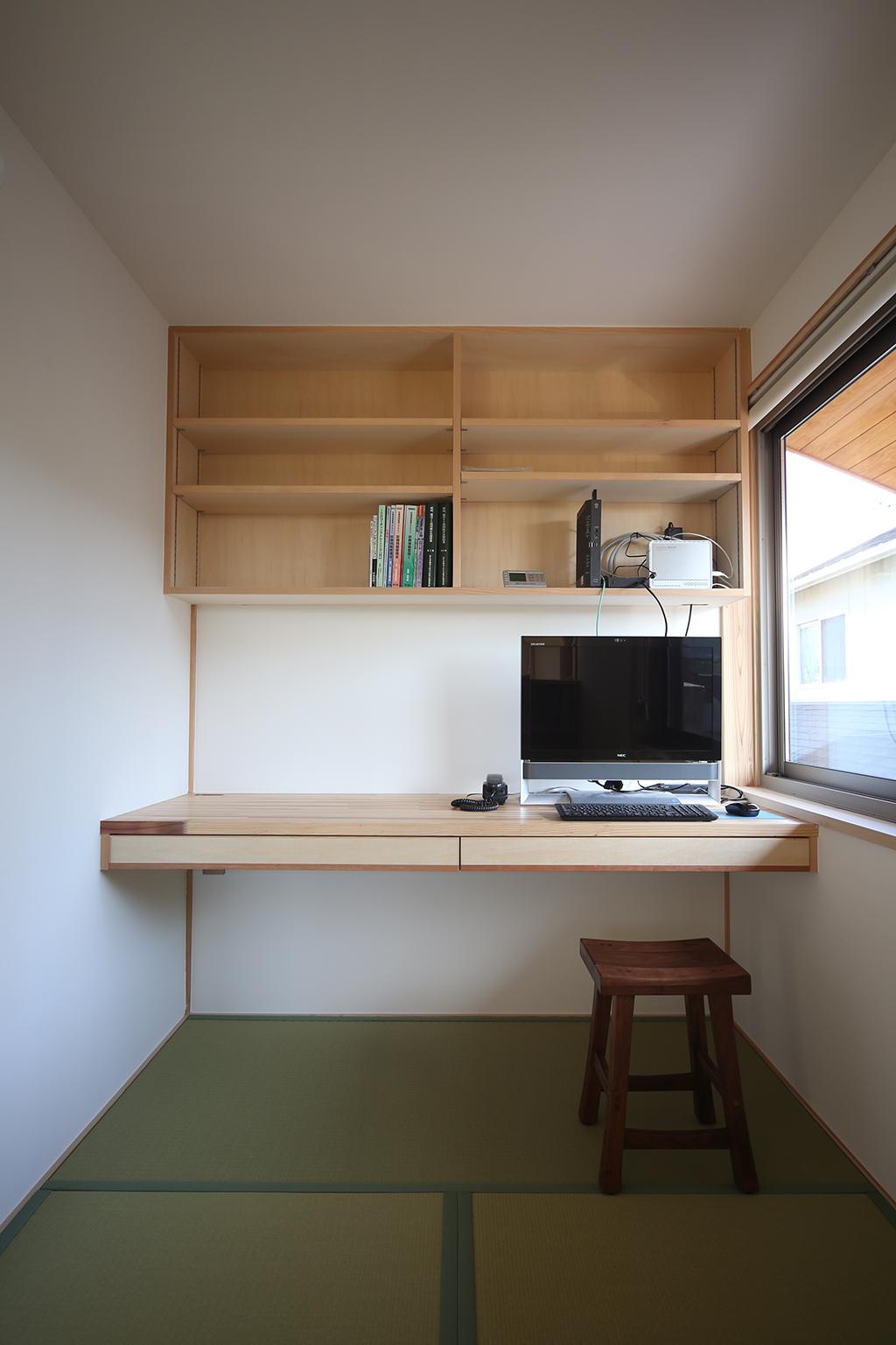 加古川市の木の家 作業デスク