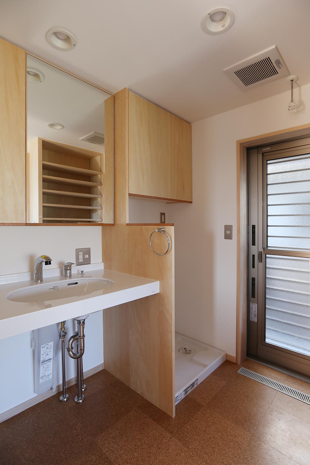 姫路市の木の家 洗面脱衣室