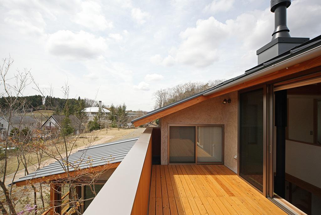 たつの市の木の家 見晴らしの良い2階バルコニーからの景色