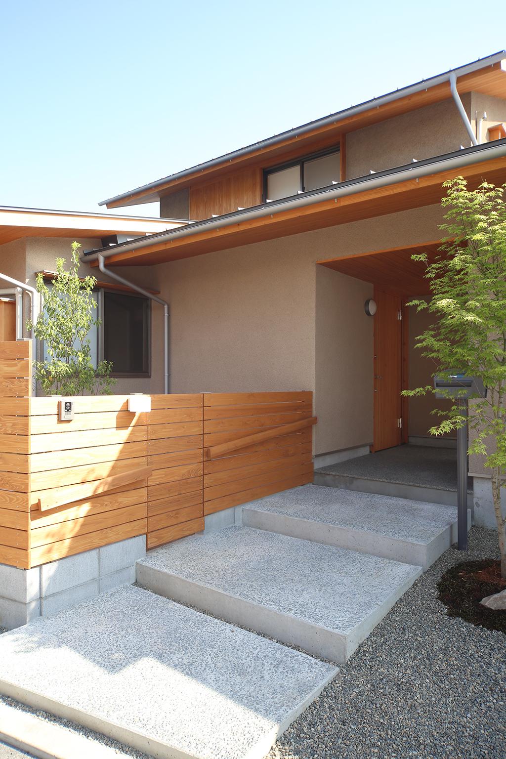 加古川市の木の家 そとん壁の外観