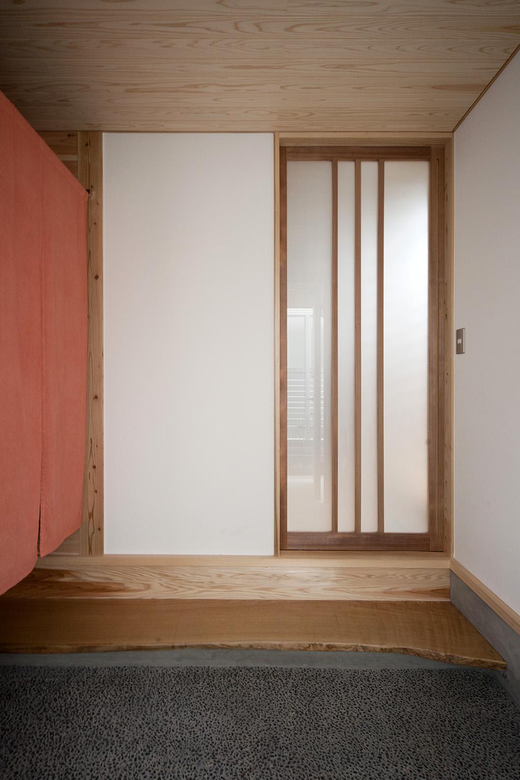 加古川市の木の家 玄関